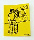 Tiny Diary: Boy with Wii by littlearty