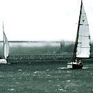 Sailboat Race in San Francisco Bay near Golden Gate by Igor Pozdnyakov