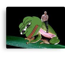 Putin Riding Pepe Frog Canvas Print