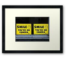 "Say ""Double Cheese""! Framed Print"