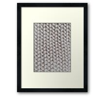 Cozy knitting  Framed Print