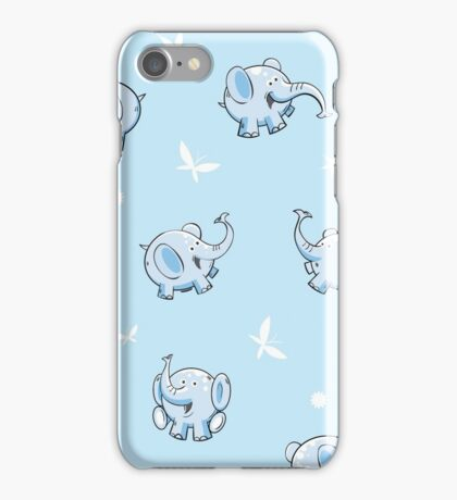Pattern with elephants. iPhone Case/Skin