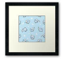 Pattern with elephants. Framed Print