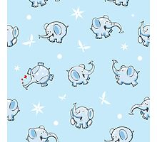 Pattern with elephants. Photographic Print