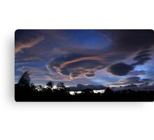Lenticular Cloud Formation Canvas Print
