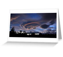 Lenticular Cloud Formation Greeting Card