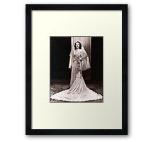 The 1940's  Bride Framed Print