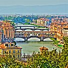 The Ponte Vecchio Florence Italy by John Miner