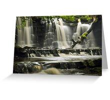 Scarloom Waterfall, Holden, Lancashire Greeting Card