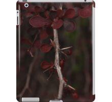 Beautiful Deep Blood Red thorn bush iPad Case/Skin