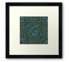 Blue Green Marbling Framed Print