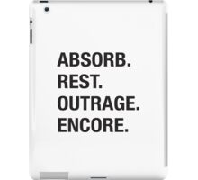 Absorb Rest Outrage Encore (Black) iPad Case/Skin