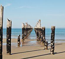Old Pier Bridport by Sonya Byrne