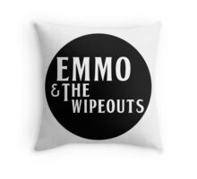 Emmo and the Wipeouts - Black version Throw Pillow