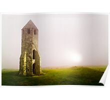Ancient Light house in the mist Poster