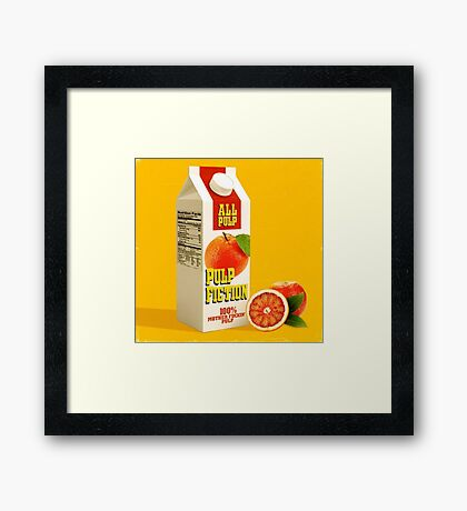 pulp fiction juice box Framed Print