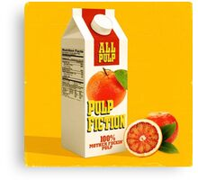 pulp fiction juice box Canvas Print