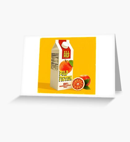 pulp fiction juice box Greeting Card
