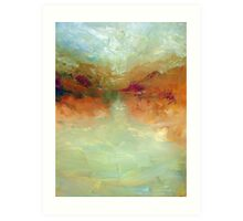 Lake: Abstract landscape Art Print