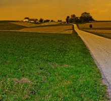 Country road on a summer afternoon | landscape photography Sticker