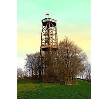 Observation tower in vivid colors | architectural photography Photographic Print