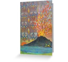 Epi Island, Lopevi volcano Greeting Card