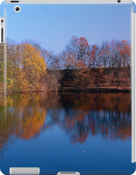 Indian summer reflections at the pond   waterscape photography by Patrick Jobst