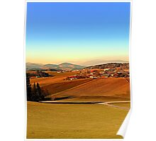Picturesque panorama of countryside life | landscape photography Poster