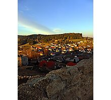 Village skyline below the castle at sundown | landscape photography Photographic Print