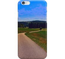 Yet another boring hiking trail picture | landscape photography iPhone Case/Skin