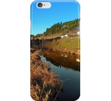 A river, the valley and traditional farmland | waterscape photography iPhone Case/Skin