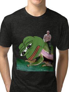 Putin Riding Pepe Frog Tri-blend T-Shirt