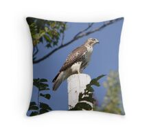 Red With A Nictitating Membrane Throw Pillow