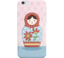 Matryoshka Doll Red & Blue iPhone Case/Skin