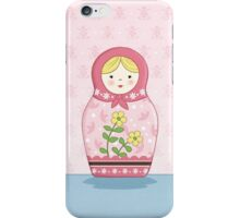Matryoshka Doll Pink iPhone Case/Skin