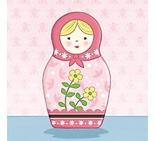 Matryoshka Doll Pink Photographic Print