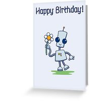 Ned's Flower Birthday Card Greeting Card