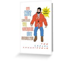 Connoisseur Man Greeting Card