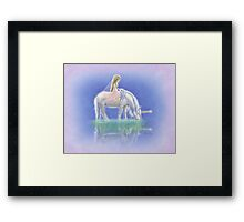 Ulani the Unicorn Elf Framed Print