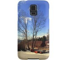 Trees and a farm in winter wonderland | landscape photography Samsung Galaxy Case/Skin