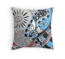 The Indian with tongue-snake Throw Pillow