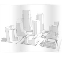 Wireframe City Poster