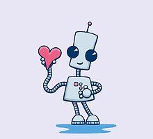 Ned's Heart Birthday Card by DoodleDojo