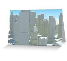 Cityscape 4 Greeting Card