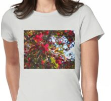 Black Cherry Blossoms in Summertime Edmonton Womens Fitted T-Shirt