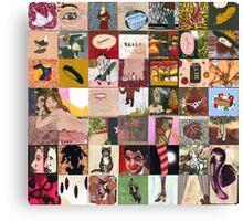 Fashion Sketchbook Canvas Print