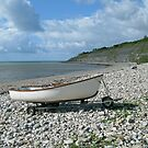 Lyme Regis Beach by Mike Paget