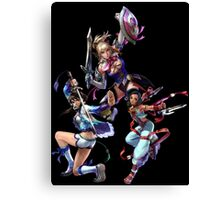 3 Character Tee 2 - Cassandra, Talim and Xianghua Canvas Print