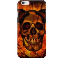 Skull with Fire iPhone Case/Skin
