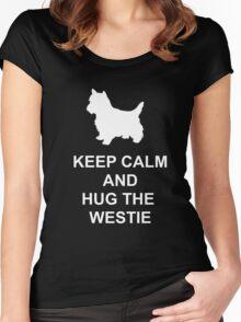 Keep Calm Westie Hoodie Women's Fitted Scoop T-Shirt